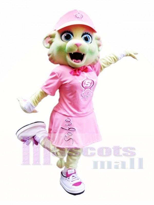 Pink Cat Mascot Costume Pink Kitten Mascot Costumes