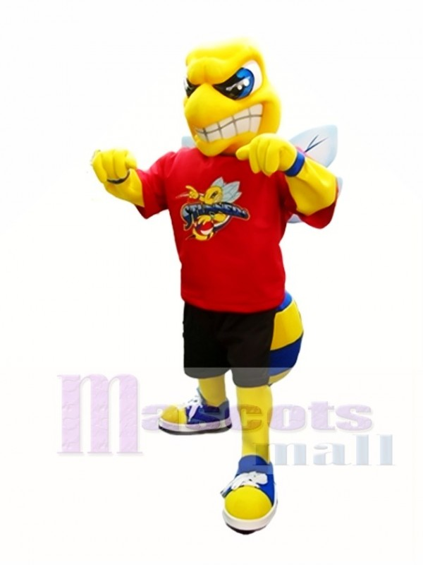 Yellow and Royal Blue Hornet Mascot Costume Insect Mascot Costumes
