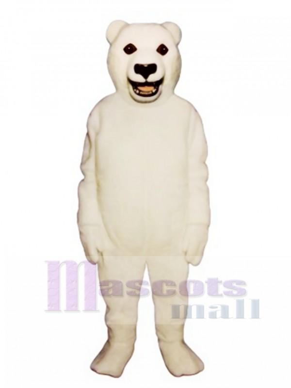 Cute Snarling Polar Bear Mascot Costume