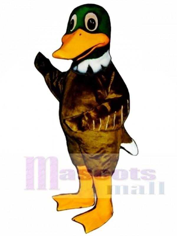Cute Mallard Duck Mascot Costume