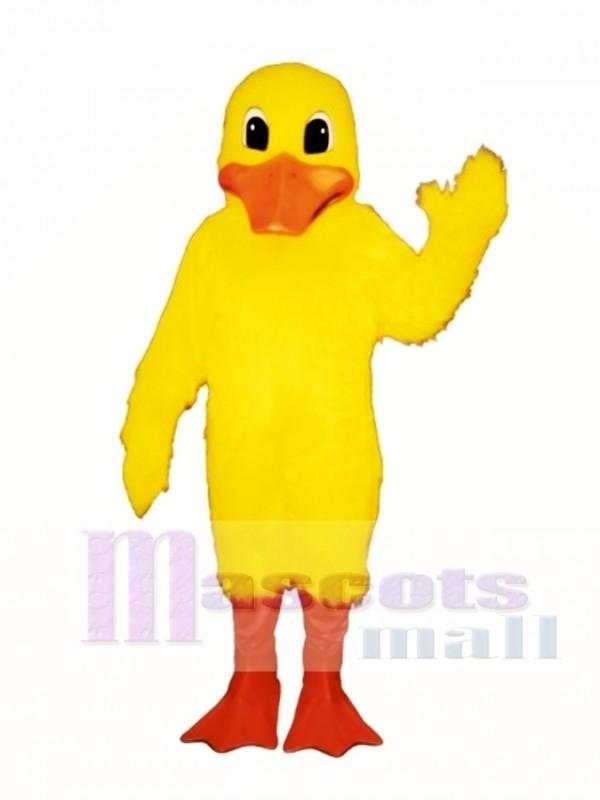 Cute Dudley Duck Mascot Costume