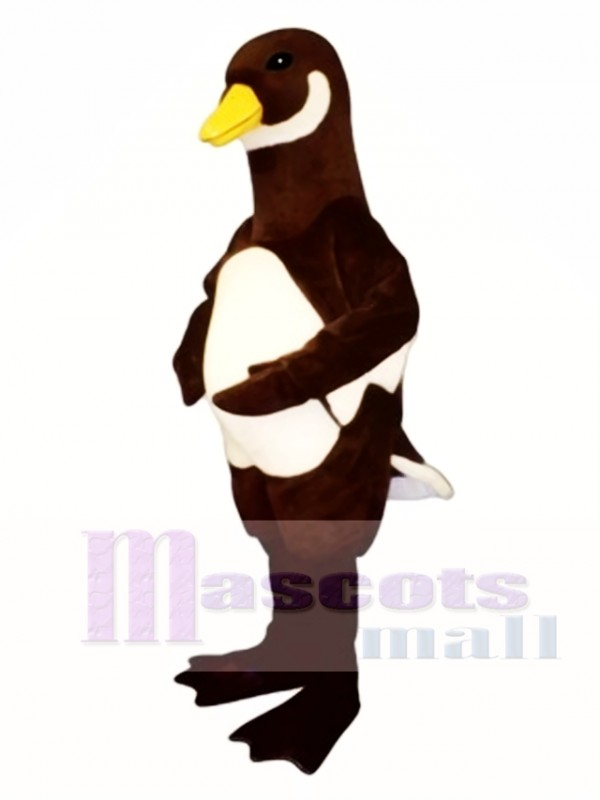 Cute White Belly Goose Mascot Costume