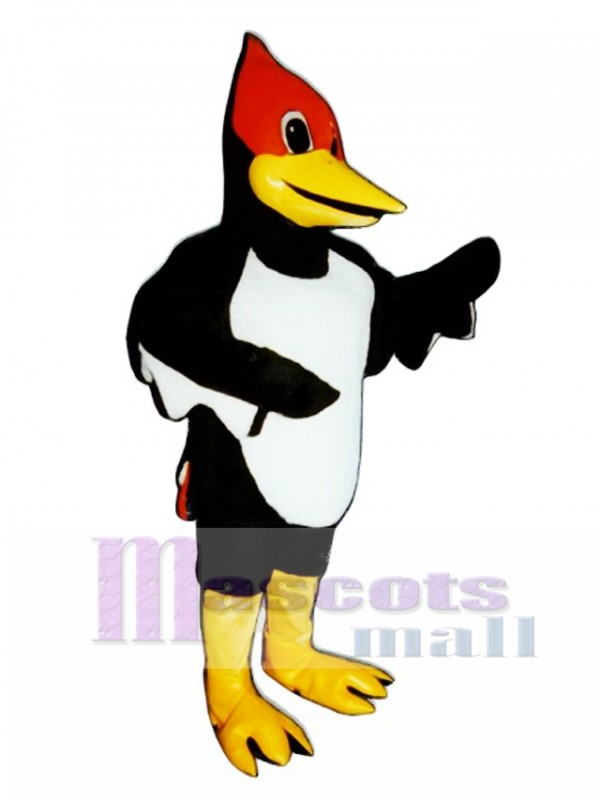 Cute Woodrow Woodpecker Mascot Costume