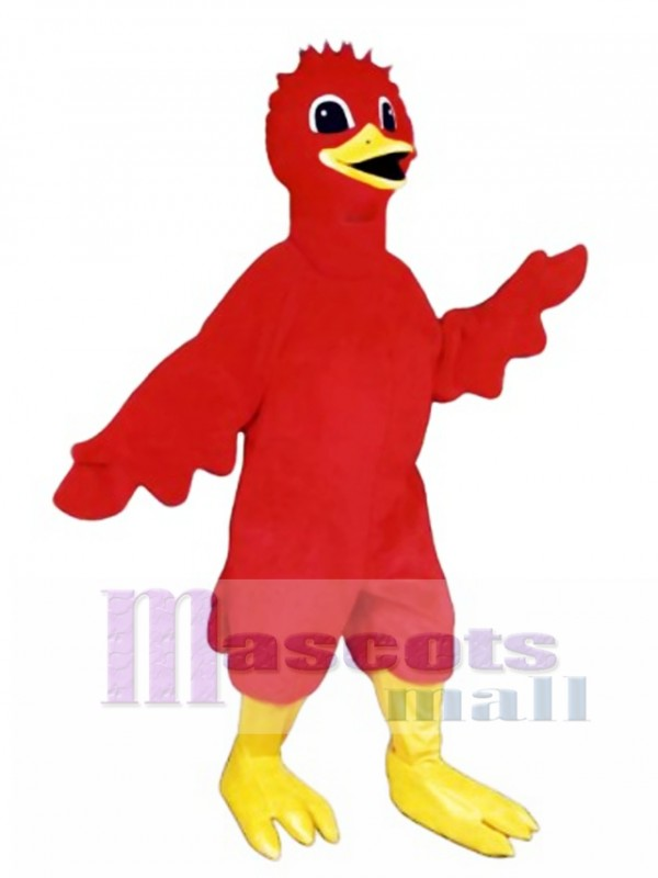 Cute Scarlet Bird Mascot Costume