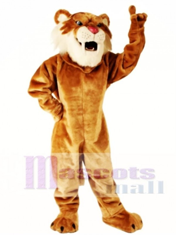 Cute Sabretooth Tiger Mascot Costume