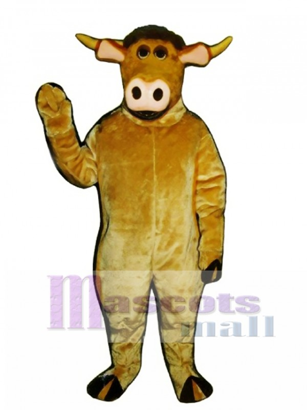 Cute Cartoon Bull Mascot Costume