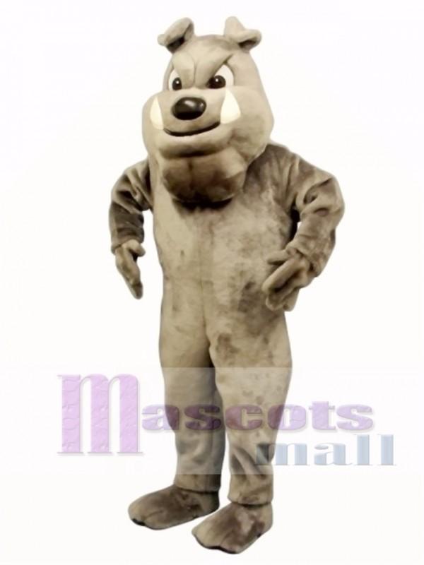 Cute Buster Bulldog Mascot Costume