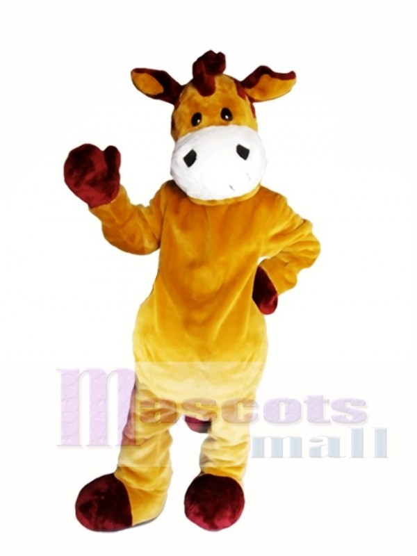 Brown Zebra Mascot Costume Brown Horse Mascot Costumes
