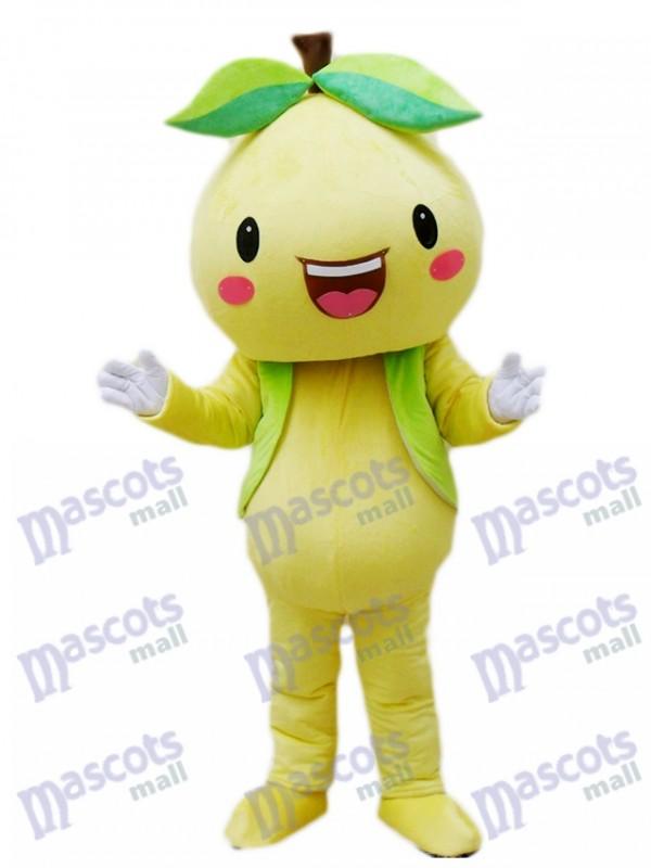 Yellow Pomelo Shaddock Grapefruit Mascot Costume