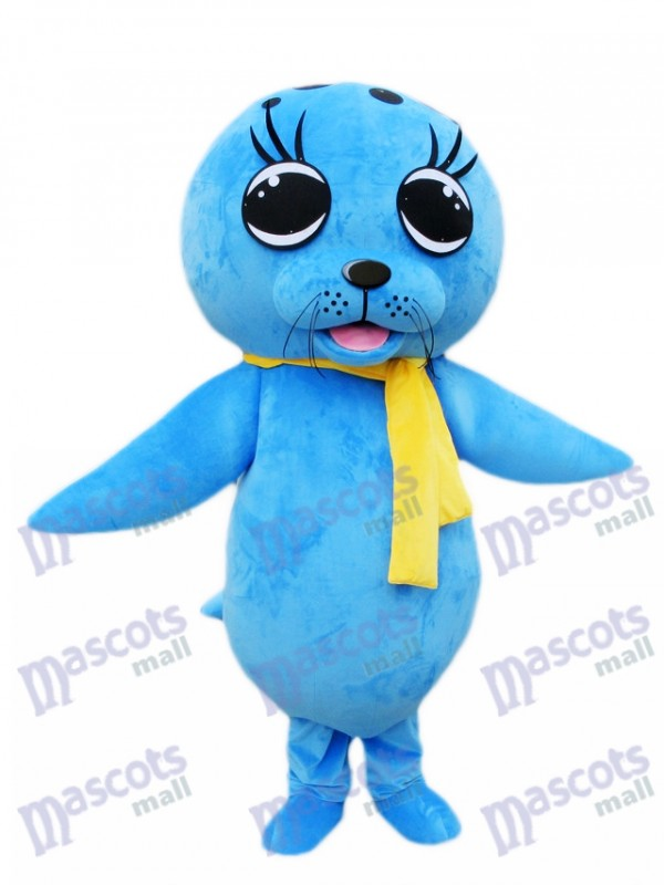 Blue Sea Lion Seal Mascot Costume