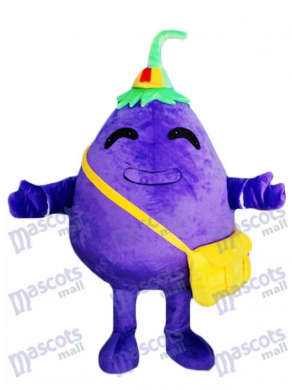Purple Eggplant Child Vegetable Mascot Costume Food Plant