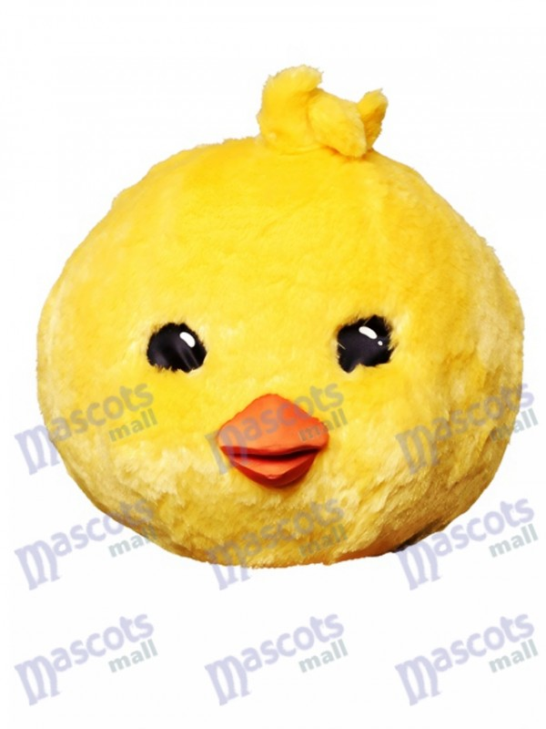 Fantasy Yellow Chicken Mascot Head Only