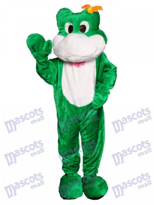 Friendly Frog Mascot Costume