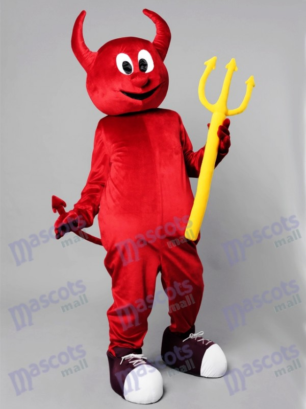 Halloween Red Evil Devil Mascot Costume