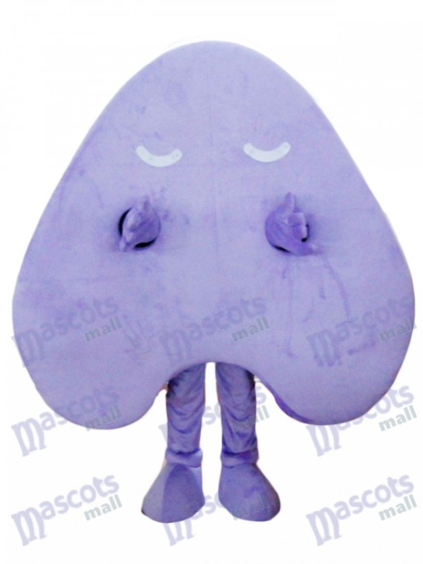 Happy Purple Letter A Alphabet Mascot Costume