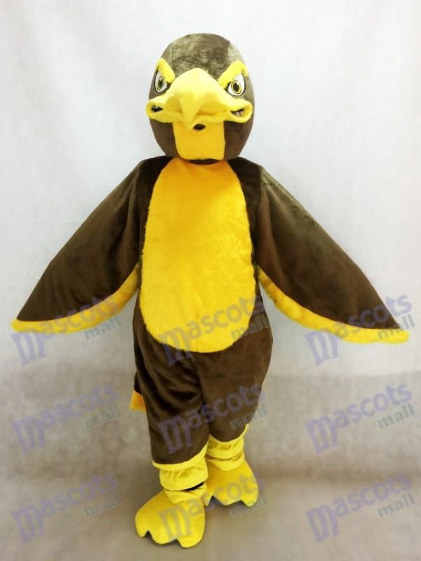 Brown Hawk Falcon Mascot Costume Animal
