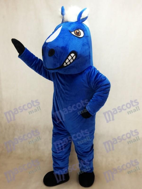 Royal Blue Mustang Horse Mascot Costume