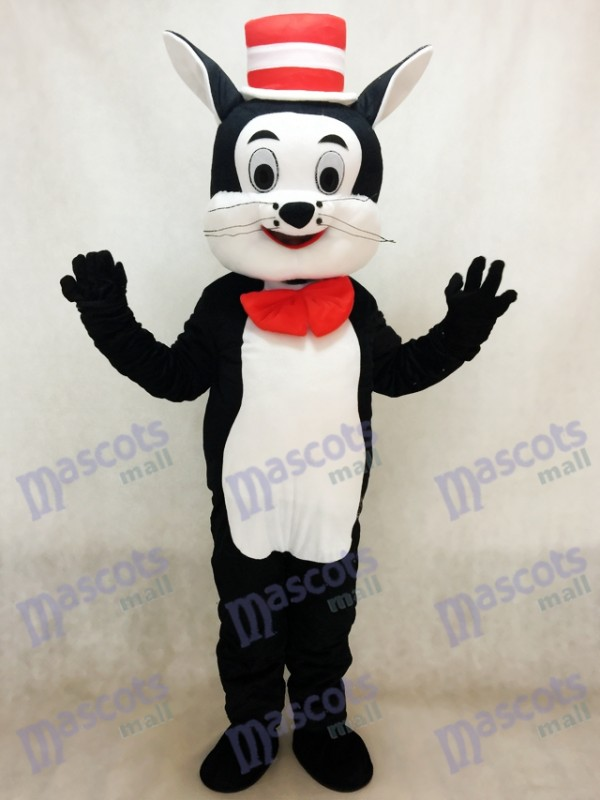 Cat in the Hat Mascot Costume Cartoon