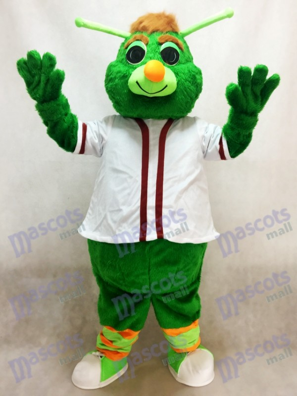 Green Guilford the Grasshopper Mascot Costume