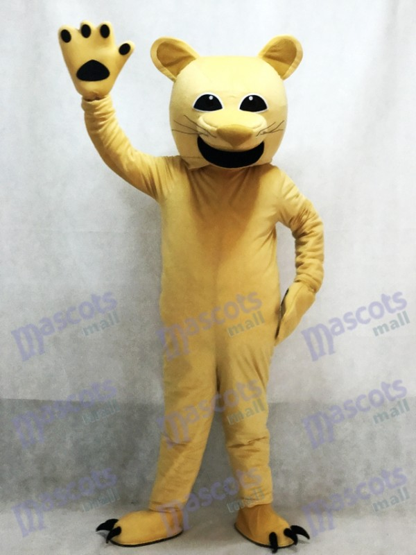 Tan Cougar Mascot Costume