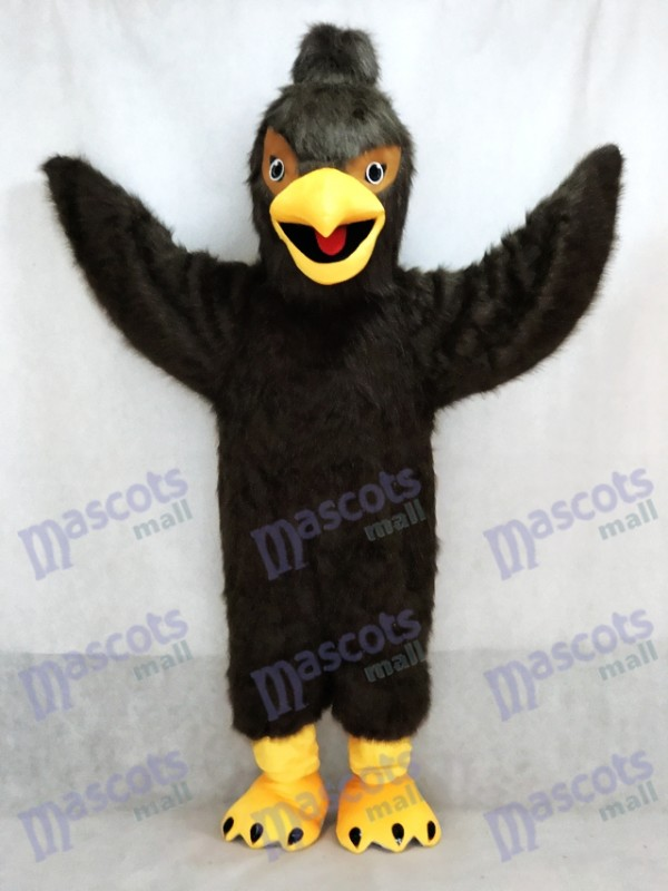Dark Brown Feather Hawk Falcon Eagle Mascot Costume Animal