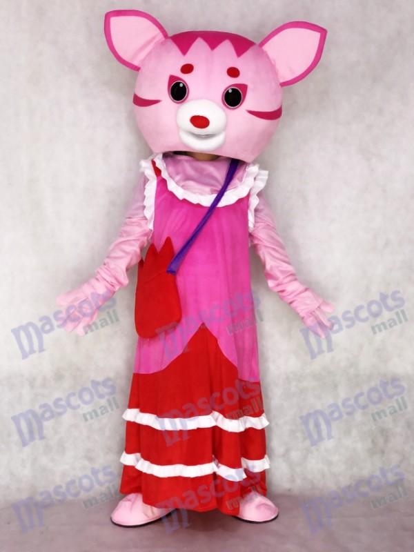 Fairy Pink Cat Adult Mascot Costume
