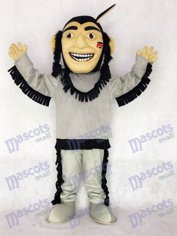 Happy Brave Indian Mascot Costume People