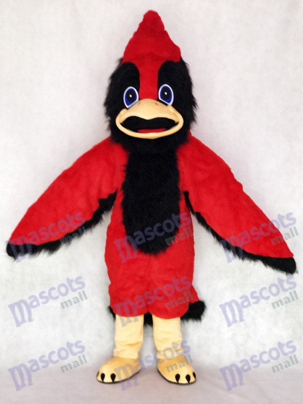 Cute Big Red Bird Mascot Costume