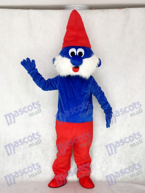 Blue Spirit with Red Hat Adult Mascot Costume