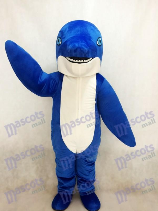 New Blue Dolphin Mascot Costume