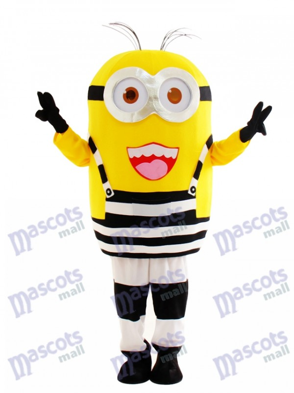 Two Eyes Happily Minion in Prison Despicable Me Mascot Costume Cartoon