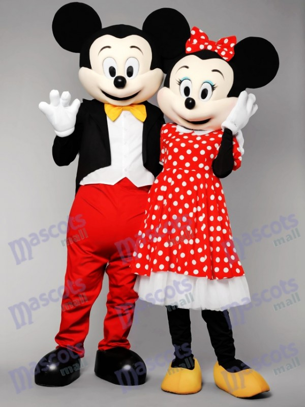 Mr Mickey Mouse and Mrs Minnie Mouse Mascot Costumes