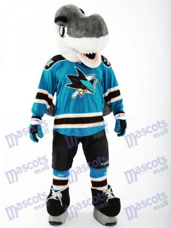 S.J. Sharkie of the San Jose Sharks Mascot Costume Shark