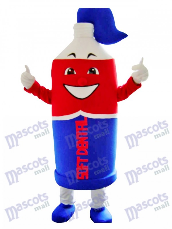 Red and Blue Toothpaste Mascot Costume