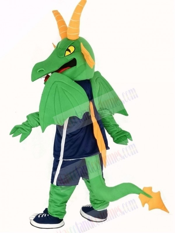 Green and Orange Dragon Mascot Costume
