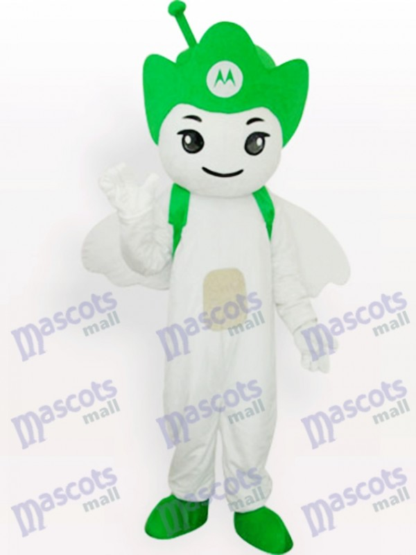 Green Moto Angel Party Adult Mascot Costume