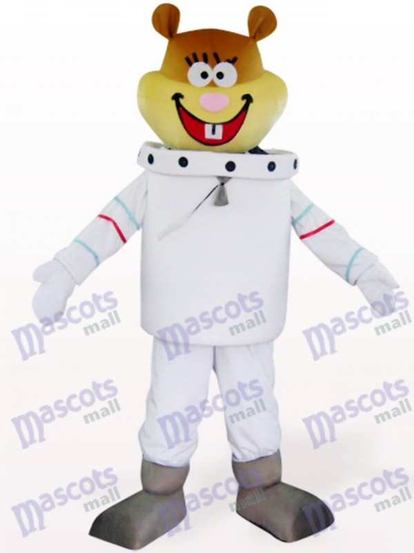 White Space Navigation Mouse Animal Mascot Costume