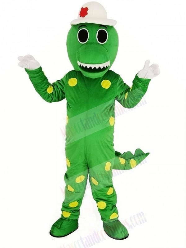Green Dorothy Dinosaur with Hat Mascot Costume Animal