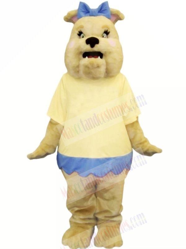 Bulldog with Yellow T-shirt Mascot Costumes