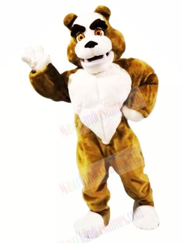 Power Muscular Bulldog Mascot Costumes Cartoon