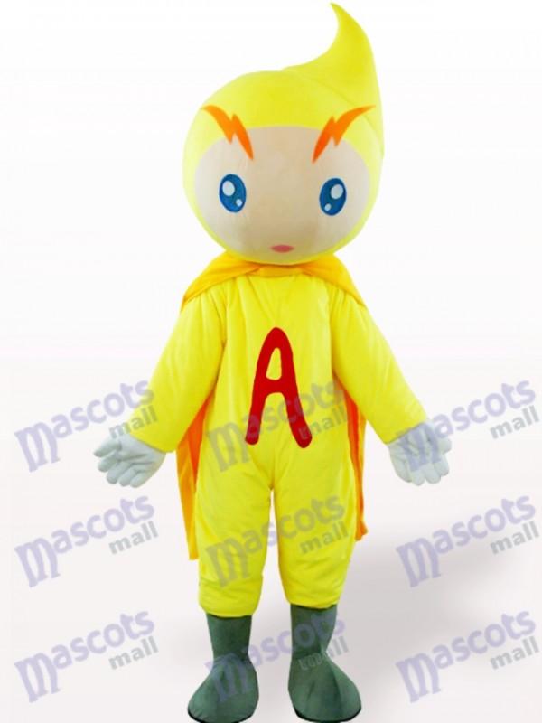 Yellow Volt-Ampere Cartoon Adult Mascot Costume
