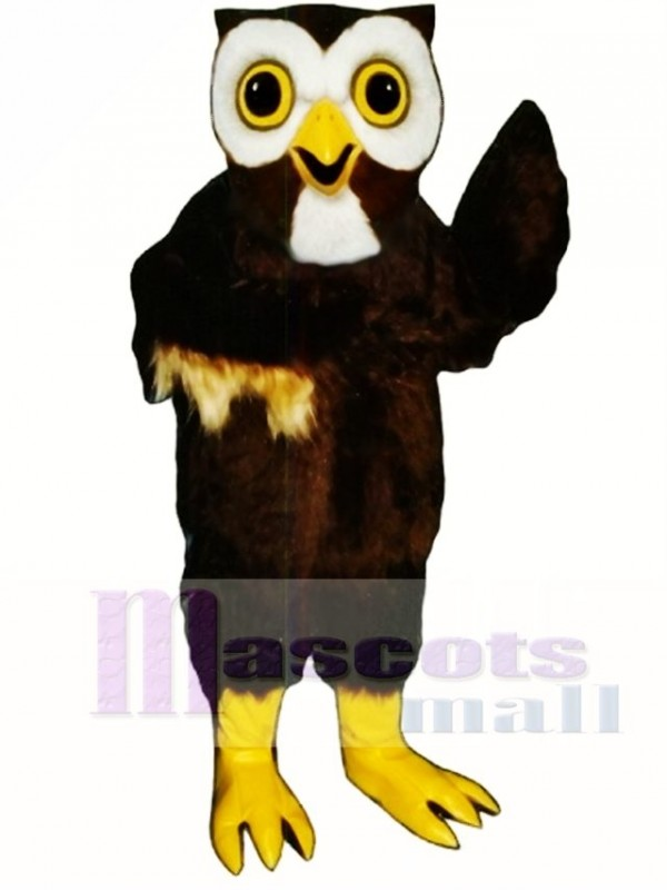 Cute Night Owl Mascot Costume