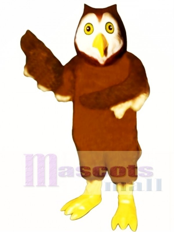 Cute Horned Owl Mascot Costume