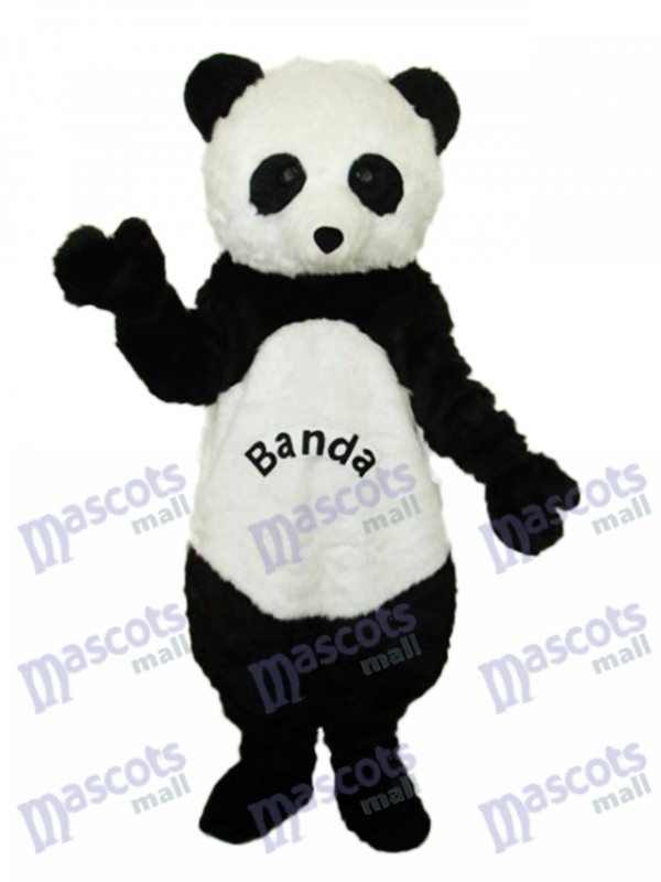 Giant Panda with letters Mascot Adult Costume