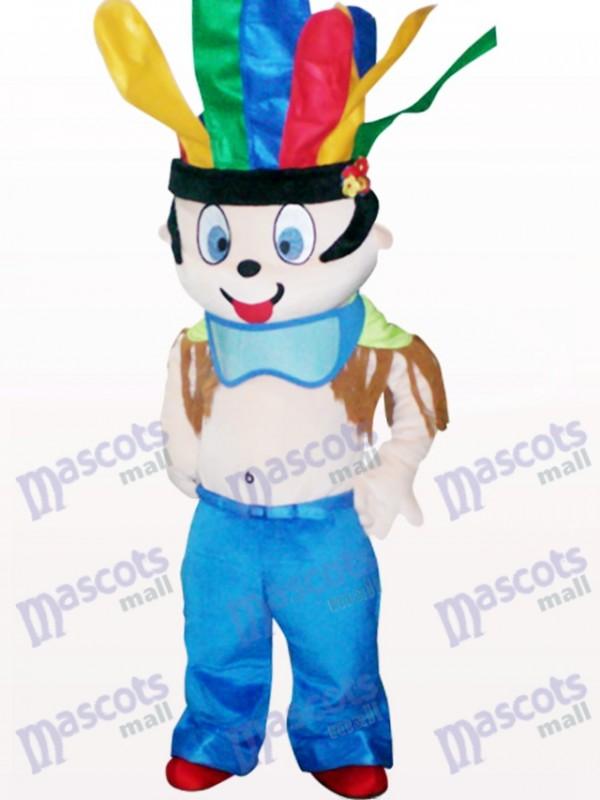 Cute Indian Cartoon Adult Mascot Costume