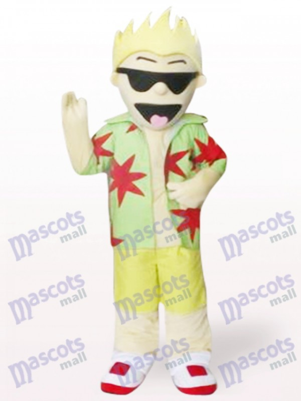Cool Sunglasses Boy Cartoon Adult Mascot Costume