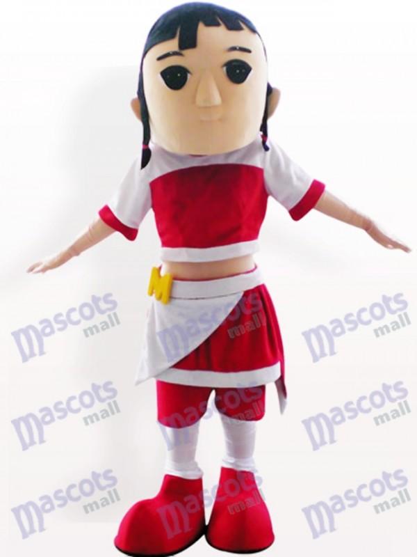 Pretty Girl Cartoon Adult Mascot Costume