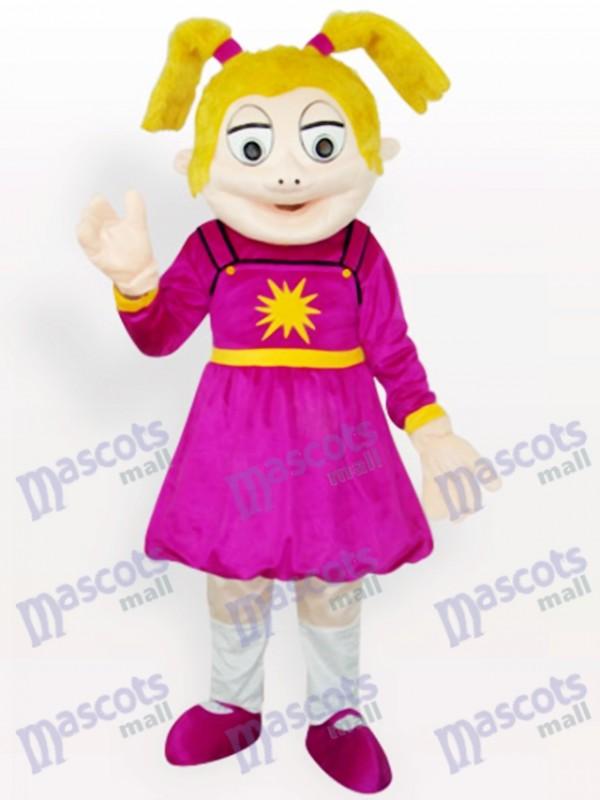 Laughing Girl Cartoon Adult Mascot Costume