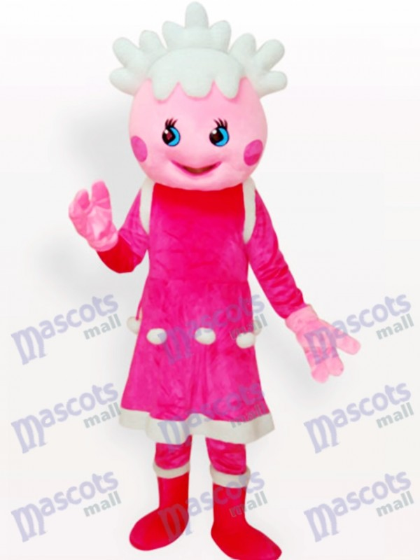 Pink Princess Cartoon Adult Mascot Costume