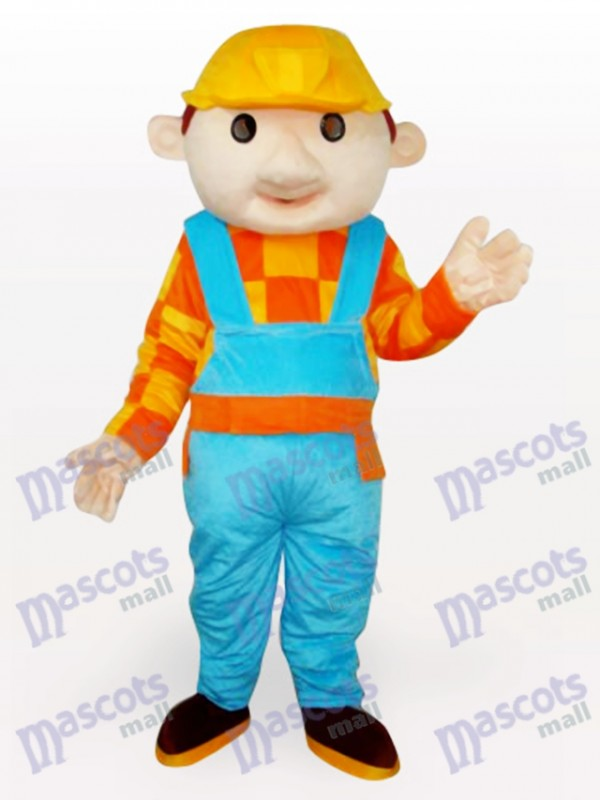 Bob the Builder Construction Boy Adult Mascot Costume